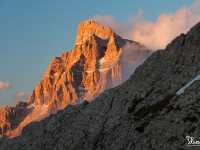 Tramonto sul Pelmo dal Coldai