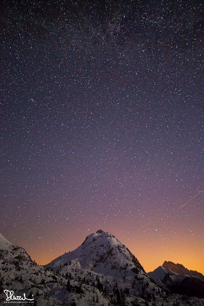 Sasso di Stria sotto le stelle