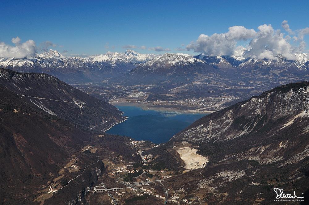 Il Lago di Santa Croce dal Monte Pizzoc (Cansiglio)