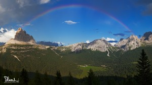 Arcobaleno sulle Dolomiti di Auronzo