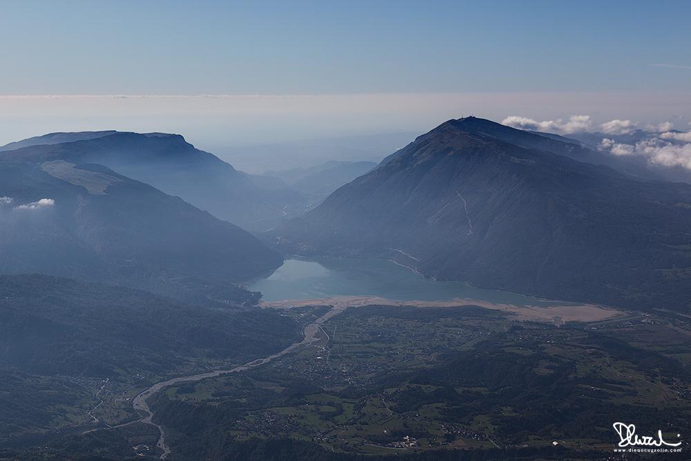L'Alpago e il Lago di Santa Croce dal Monte Teverone (Alpago)
