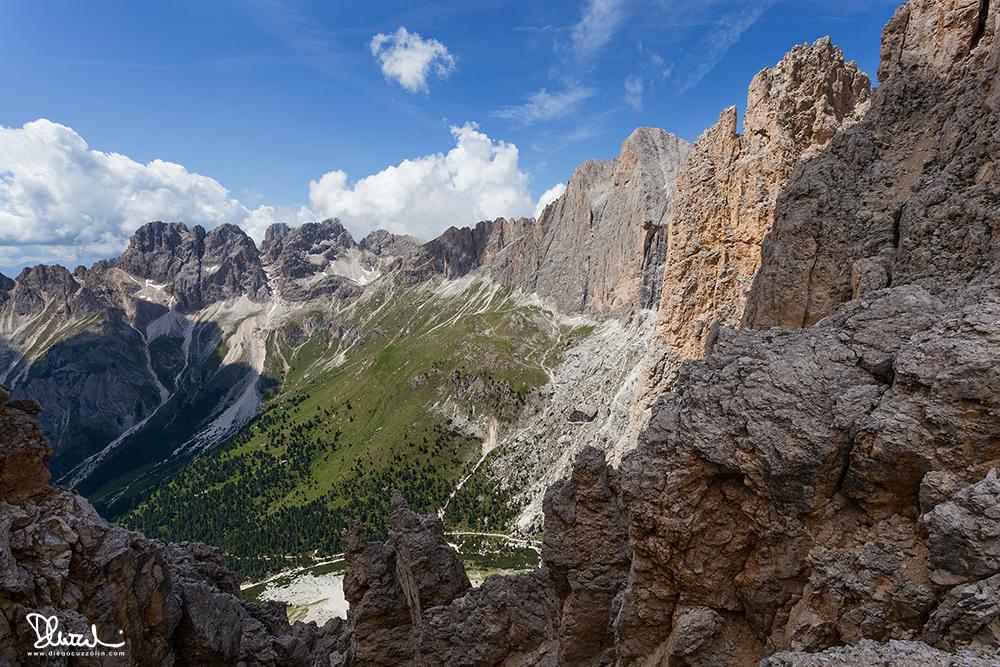 Veduta verso la Val del Vajolet dall Forcella delle Pope