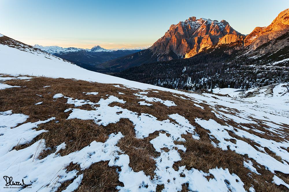 Tramonto a Valparola, verso la Val Badia