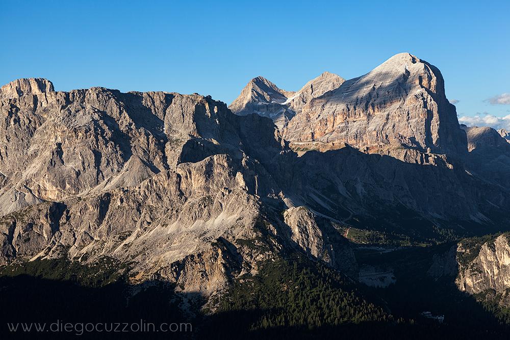 Lagazuoi e Tofane, dai pressi della vetta del Col di Lana