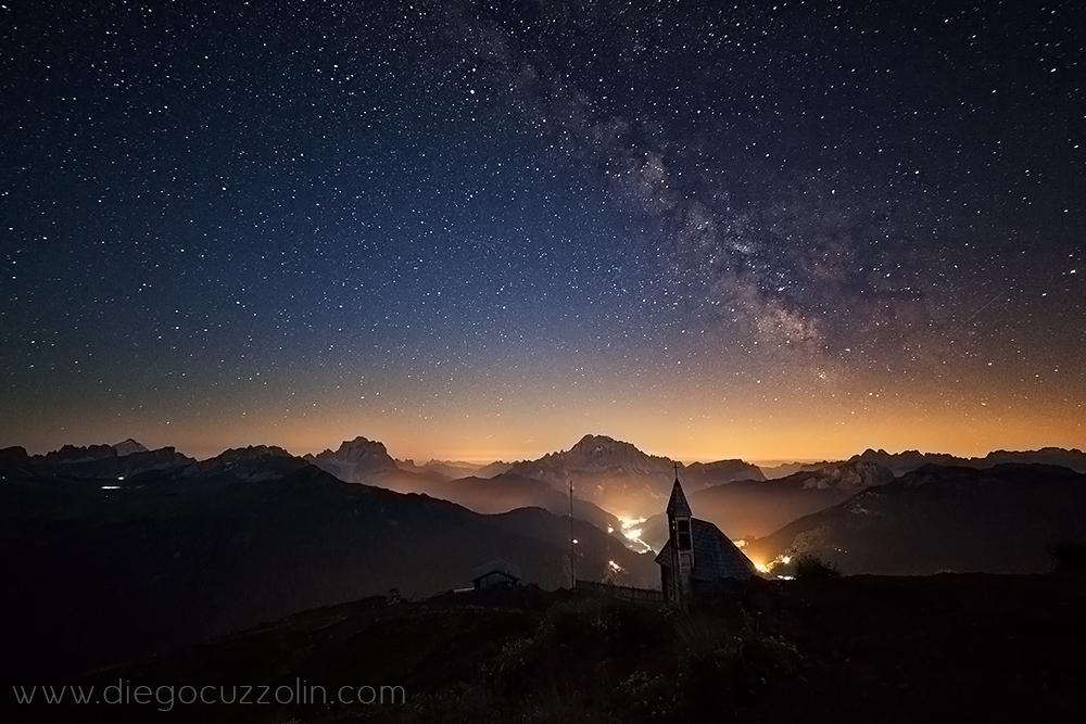 ancora la Via Lattea, sopra Pelmo e Civetta