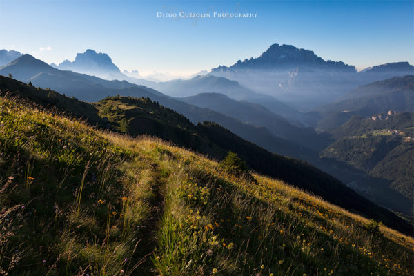 Un sentiero nell'immensità, tornando verso Pieve