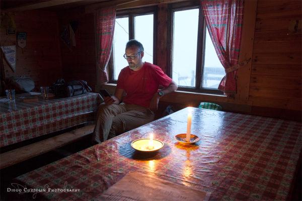 Relax in Capanna, mentre fuori si scatena il temporale