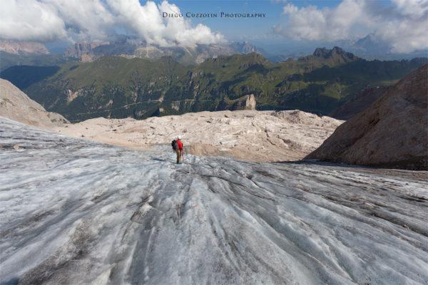 L'ultimo tratto del ghiacciaio, prima delle ghiaie