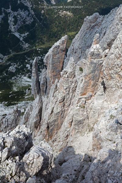 Gli Aghi di Pelsa: pochi li vedono dal basso, quasi nessuno dall'alto. Emozione incredibile essere lì