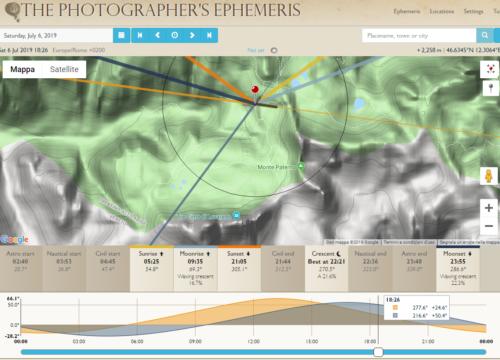 Screenshot della web-app di TPE