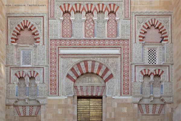 Decorazioni sulla Puerta de San José, sulla facciata est della Mezquita